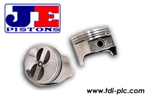 Set of JE pistons low compression forged pistons