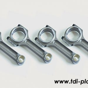 Set of forged steel connecting rods