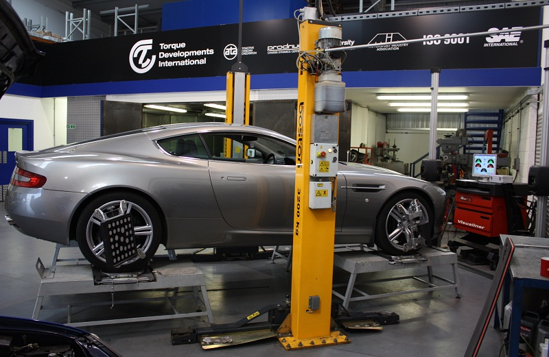 Aston Martin DB9 handling upgrade