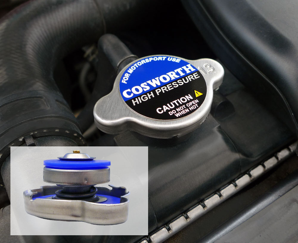 Cosworth High Pressure radiator caps - designed for highly tuned engines